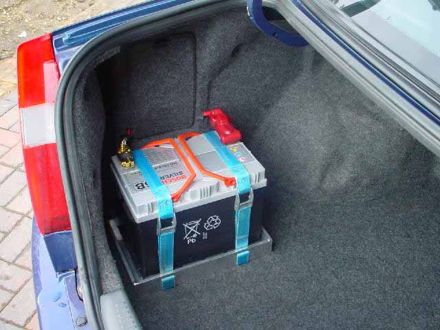 Battery Relocation To Boot Warnings Hazards