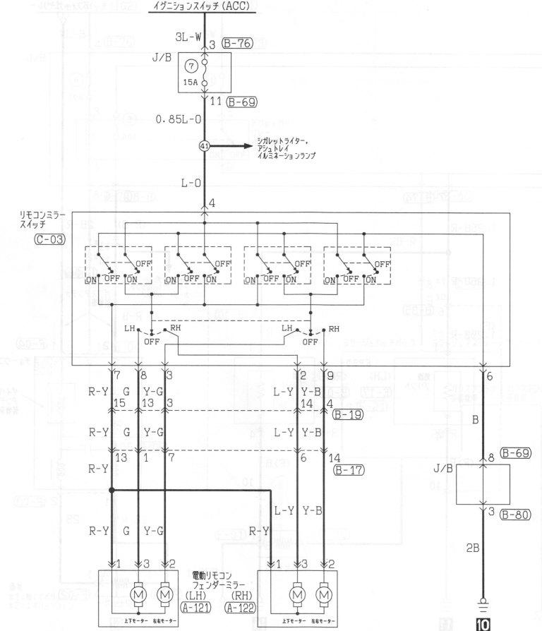 evo 6 electric mirror plug wiring diagram - mitsubishi lancer, Wiring diagram