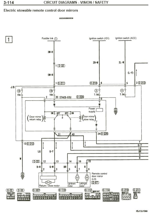 Mitsubishi Side Mirror Wiring Diagram