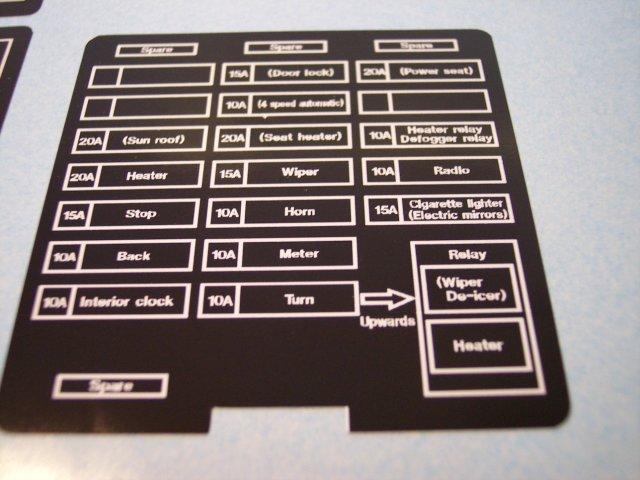 Fuse Box Labels  Evo2