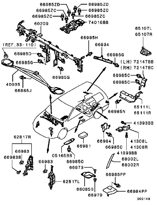 2003 mitsubishi lancer es fuse box diagram  mitsubishi