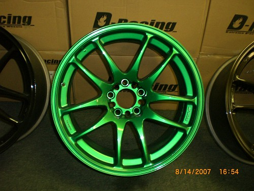 Pictures Of Green Car Wheels